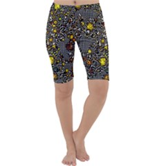Sci Fi Fantasy Cosmos Yellow Cropped Leggings