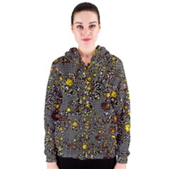 Sci Fi Fantasy Cosmos Yellow Women s Zipper Hoodies