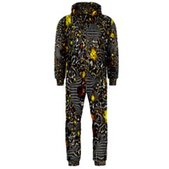 Sci Fi Fantasy Cosmos Yellow Hooded Jumpsuit (Men)