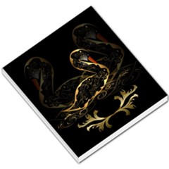 Wonderful Swan In Gold And Black With Floral Elements Small Memo Pads