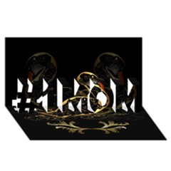 Wonderful Swan In Gold And Black With Floral Elements #1 Mom 3d Greeting Cards (8x4)