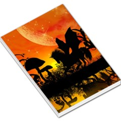 Beautiful Unicorn Silhouette In The Sunset Large Memo Pads