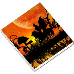 Beautiful Unicorn Silhouette In The Sunset Small Memo Pads
