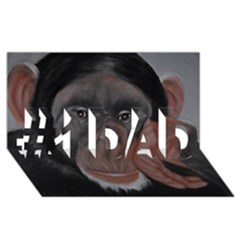 The Thinker #1 Dad 3d Greeting Card (8x4)