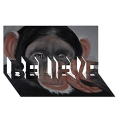 The Thinker Believe 3d Greeting Card (8x4)