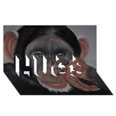 The Thinker HUGS 3D Greeting Card (8x4)