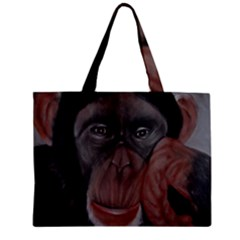 The Thinker Zipper Tiny Tote Bags
