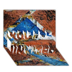Triangles You Are Invited 3d Greeting Card (7x5)