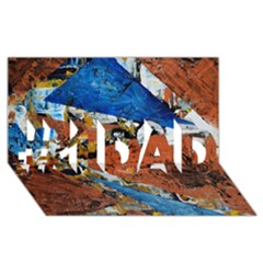 Triangles #1 Dad 3d Greeting Card (8x4)