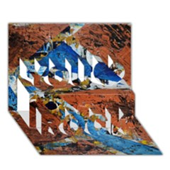 Triangles You Rock 3D Greeting Card (7x5)