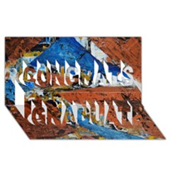 Triangles Congrats Graduate 3d Greeting Card (8x4)