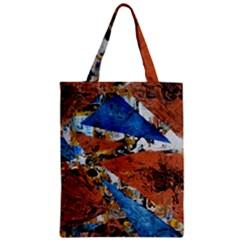Triangles Zipper Classic Tote Bags