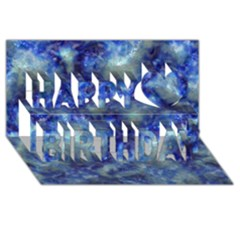 Alien Dna Blue Happy Birthday 3d Greeting Card (8x4)