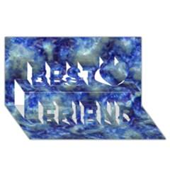 Alien DNA Blue Best Friends 3D Greeting Card (8x4)