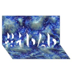 Alien DNA Blue #1 DAD 3D Greeting Card (8x4)