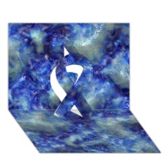 Alien Dna Blue Ribbon 3d Greeting Card (7x5)