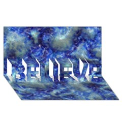 Alien Dna Blue Believe 3d Greeting Card (8x4)
