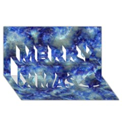 Alien Dna Blue Merry Xmas 3d Greeting Card (8x4)
