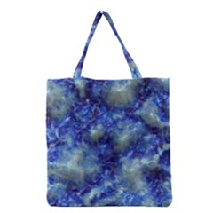 Alien DNA Blue Grocery Tote Bags
