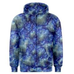 Alien Dna Blue Men s Zipper Hoodies