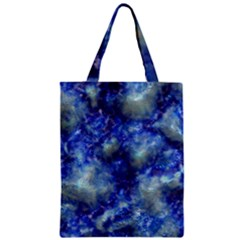 Alien DNA Blue Zipper Classic Tote Bags