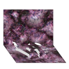 Alien Dna Purple LOVE Bottom 3D Greeting Card (7x5)