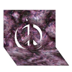 Alien Dna Purple Peace Sign 3D Greeting Card (7x5)