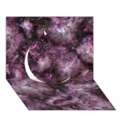 Alien Dna Purple Circle 3d Greeting Card (7x5)