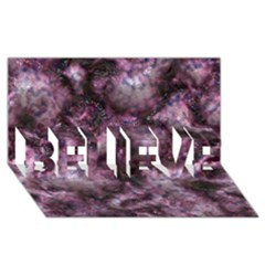 Alien Dna Purple BELIEVE 3D Greeting Card (8x4)