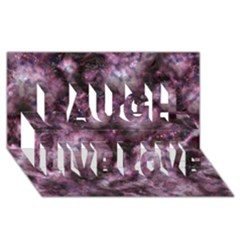 Alien Dna Purple Laugh Live Love 3D Greeting Card (8x4)