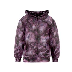 Alien Dna Purple Kids Zipper Hoodies