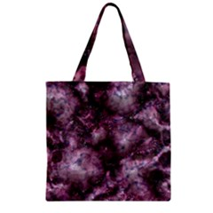 Alien Dna Purple Zipper Grocery Tote Bags