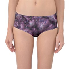 Alien Dna Purple Mid-Waist Bikini Bottoms