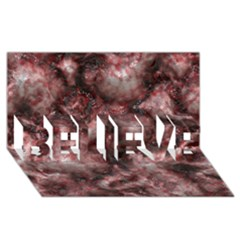Alien DNA Red BELIEVE 3D Greeting Card (8x4)