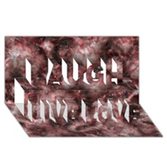 Alien Dna Red Laugh Live Love 3d Greeting Card (8x4)