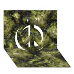 Alien DNA green Peace Sign 3D Greeting Card (7x5)