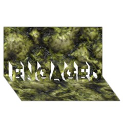 Alien DNA green ENGAGED 3D Greeting Card (8x4)