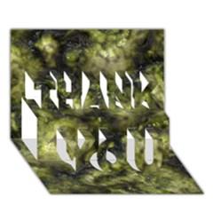 Alien Dna Green Thank You 3d Greeting Card (7x5)
