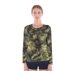 Alien DNA green Women s Long Sleeve T-shirts
