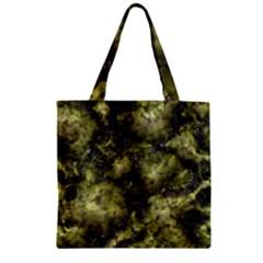 Alien DNA green Zipper Grocery Tote Bags