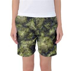 Alien DNA green Women s Basketball Shorts