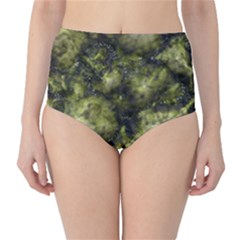 Alien DNA green High-Waist Bikini Bottoms