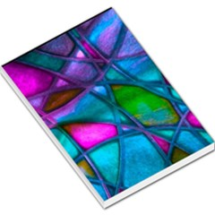 Imposant Abstract Teal Large Memo Pads