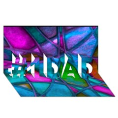 Imposant Abstract Teal #1 DAD 3D Greeting Card (8x4)