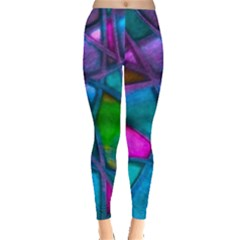 Imposant Abstract Teal Women s Leggings