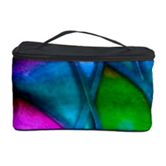 Imposant Abstract Teal Cosmetic Storage Cases