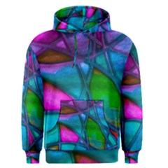 Imposant Abstract Teal Men s Pullover Hoodies