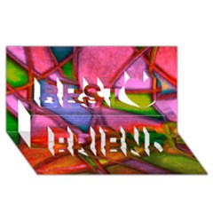 Imposant Abstract Red Best Friends 3d Greeting Card (8x4)