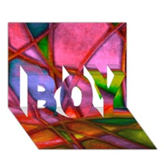 Imposant Abstract Red Boy 3d Greeting Card (7x5)