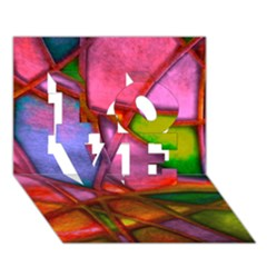Imposant Abstract Red LOVE 3D Greeting Card (7x5)
